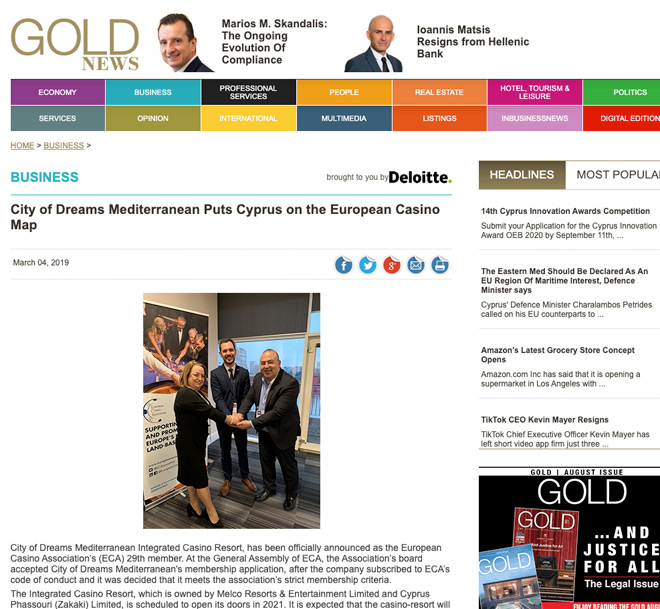 casino in gold news